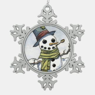 Snowman - Snowflake Ornament