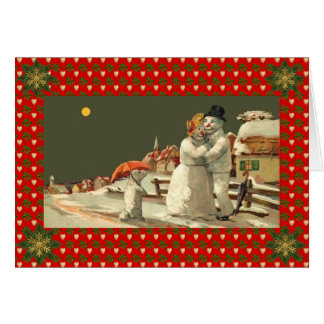 Snowman, Snowgirl Holiday Card