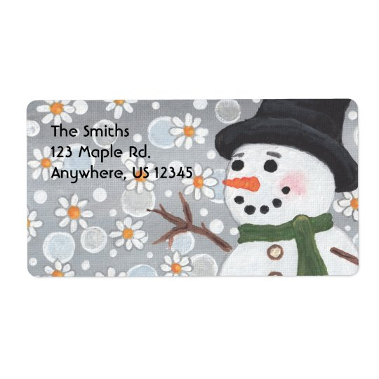 Snowman Snowstorm, The Smiths123 Maple Rd.Anywh... Shipping Label