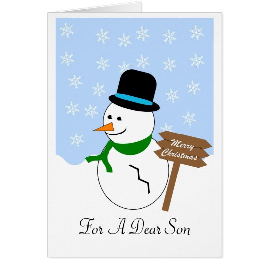 Snowman Son Christmas Card