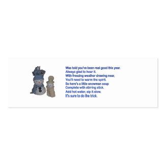 Snowman Soup Business Card