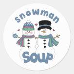 Snowman Soup Label Stickers