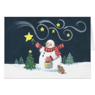 Snowman Star Painter Card
