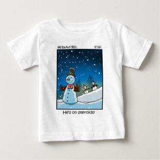 Snowman Steriods Baby T-Shirt