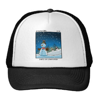 Snowman Steriods Cap