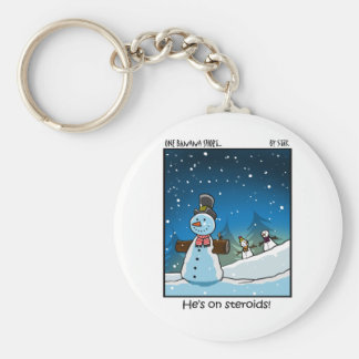 Snowman Steriods Key Ring
