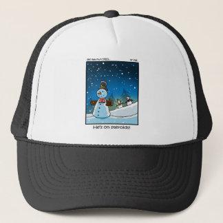 Snowman Steriods Trucker Hat