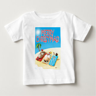 Snowman Sunbathing Baby T-Shirt