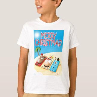 Snowman Sunbathing T-Shirt