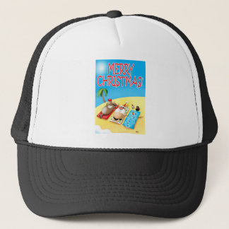 Snowman Sunbathing Trucker Hat