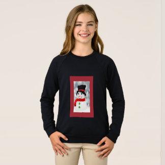 Snowman sweatshirt for girls