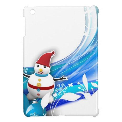 Snowman Swirl iPad Mini Case