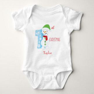 Snowman Theme Baby First Christmas Baby Bodysuit