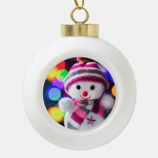 Snowman Toy Christmas Tree Ball Decoration Ceramic Ball Decoration