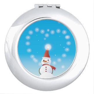 Snowman Travel Mirrors