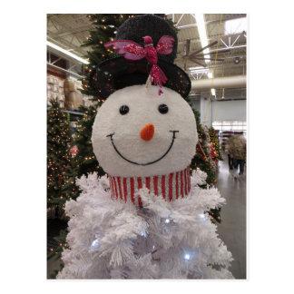 Snowman Tree Postcard