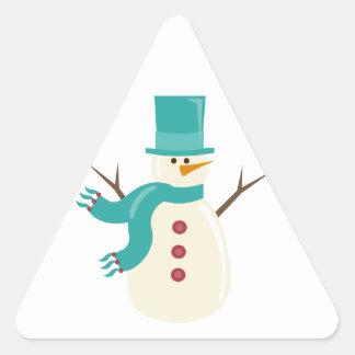 Snowman Triangle Sticker