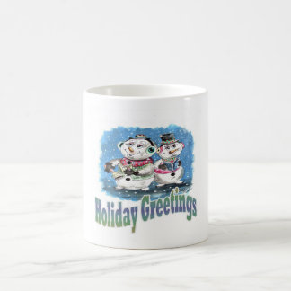 Snowman Trio Basic White Mug
