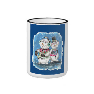 Snowman Trio Ringer Mug