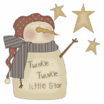 Snowman Twinkle Little Star Ornament Photo Cut Out