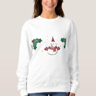 snowman under the mistletoe sweatshirt