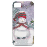 Snowman Watercolor art iPhone 5 Cases
