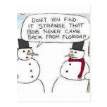 Snowman went to Florida