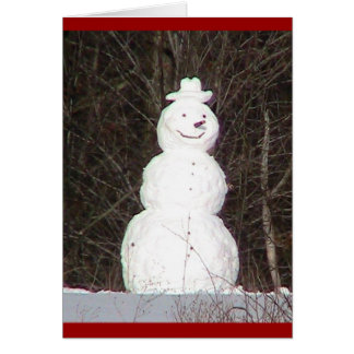 Snowman ( WestCreek) Holiday Card