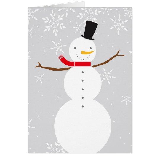snowman winter card