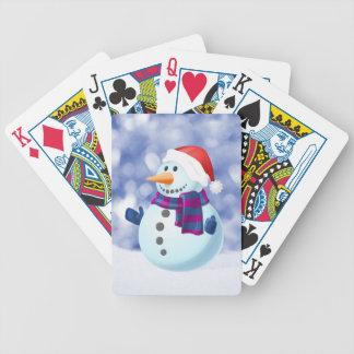Snowman Winter Merry Christmas Snow Poker Deck