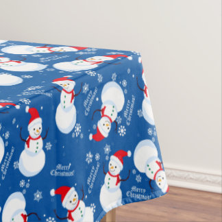 "Snowman winter Tablecloth, 52""x70"" Tablecloth"