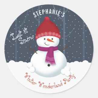 Snowman Winter Wonderland Classic Round Sticker