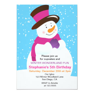 winter wonderland invitations  announcements  zazzle.co.uk, Birthday invitations