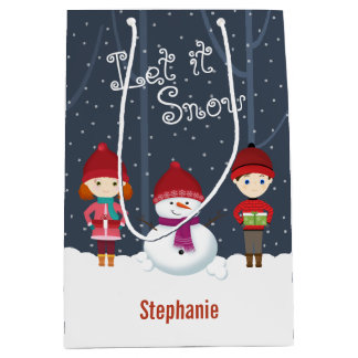 Snowman Winter Wonderland Medium Gift Bag