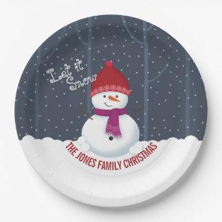 Snowman Winter Wonderland Paper Plate
