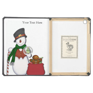 Snowman with A Bag Full Of Presents iPad Air Covers