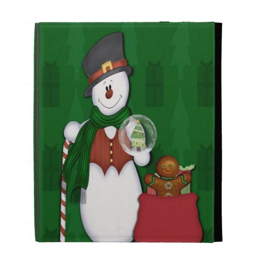 Snowman with A Bag Full Of Presents iPad Case