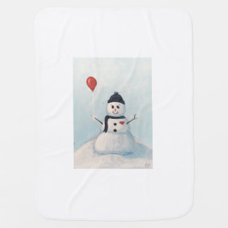 Snowman With A Balloon Baby Blankey Baby Blanket