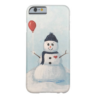 Snowman With A Balloon Phone Case