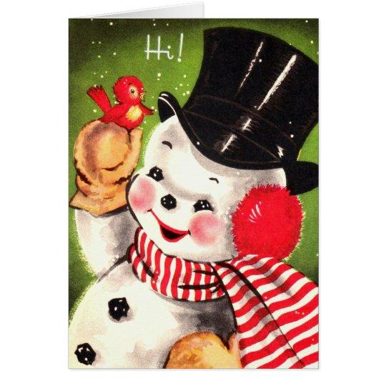 Snowman with Bird Card