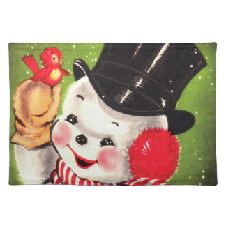 Snowman with Bird Placemat