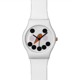 Snowman With Carrot Nose Novelty Watch