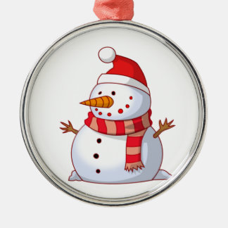 Snowman With Hat And Scarf Christmas Ornament