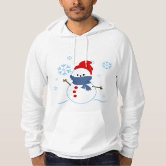 Snowman with red hat hoodie