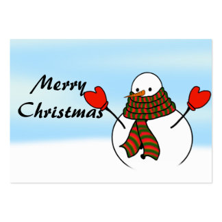 Snowman with Red Mittens and a Long Scarf Pack Of Chubby Business Cards