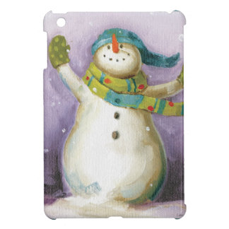 Snowman with Winter Mittens Case For The iPad Mini