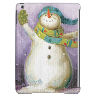 Snowman with Winter Mittens Case For iPad Air