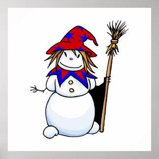 Snowman Wizard Poster