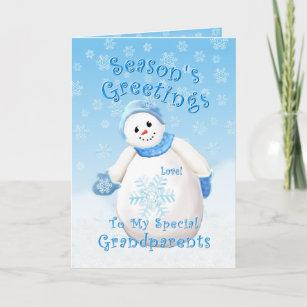 Grandparents Christmas Cards   Zazzle UK