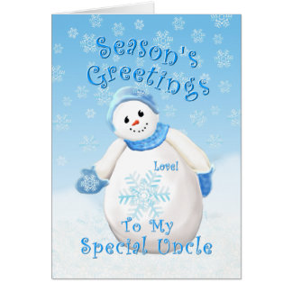 Snowman Wonderland for Uncle Christmas Card